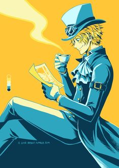 Coffee and Wanted Poster/ Sabo/One piece