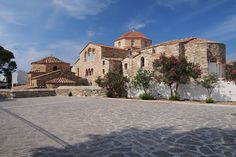 """Panagia Ekatontapyliani is a historic Byzantine church  also known as """"The Church of 100 Doors"""", located  on #Paros Island,  #Parikia town. Dated to 326 b.c.  historians believe that it was founded by Saint Helen, the mother of Constantine the Great.  #PanagiaEkatontapyliani #ChurchOf100Doors #ParosIsland  #Greece #Orthodox"""