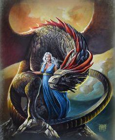 DAENERYS AND DROGON  FAN ART GAMES OF THRONES ACRYLIC ON PAINTING performance live romics 2017 Italy.  by Antonello Venditti -  #GameOfThrones #GoT #Daenerys #Khaleesi #JonSnow #GotArt #GameOfThronesArt #DaenerysTargaryen #Daenerys #Targaryen #MotherOfDragons #Dany #EmiliaClarke #KitHarington #GameOfThronesFamilly #GoTFamily #GoTPage #GoTFanPage #GotFanArt #Winterfell #Westeros #Ironthrone #asoiaf #ASongOfIceAndFire #Dragon #Dragons #Drogon #Rhaegal #Viserion #ThronesDragons