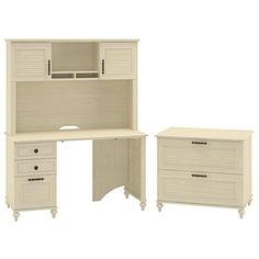 kathy ireland Office by Bush Furniture Volcano Dusk 51W Desk and Lateral File