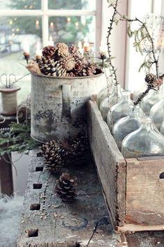 Vibeke design: natur & rustikk christmas decor & gift idea д Love Decorations, Christmas Decorations, Holiday Decor, Winter House, Winter Garden, Country Christmas, Christmas Time, Vibeke Design, Deco Nature