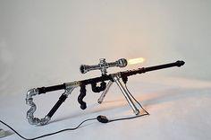 Retro Industrial Gun Shape Water Pipe Desk Lamp Bar Bedroom Originality Light | Дом и сад, Освещение и потолочные вентиляторы, Светильники | eBay!