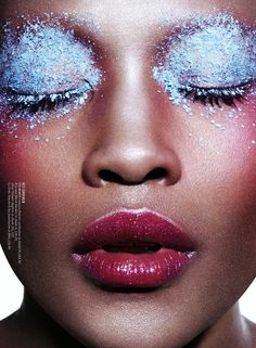 """Glisten"" Betty Adewole by Paul Scala for ES Magazine November 2015. Stylist: Sophie Paxton Makeup: Isamaya Ffrench"