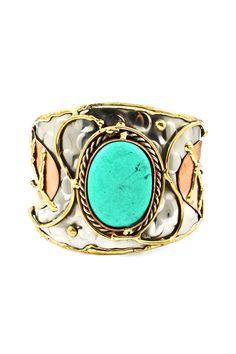 Turquoise Geneva Cuff | Awesome Selection of Chic Fashion Jewelry | Emma Stine Limited