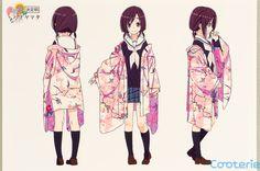 Hanayamata: Naru Sekiya Character Model Sheets