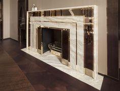 Lancaster, Floors, Bathroom, Shelf in in Classic Rosewood, Fireplace