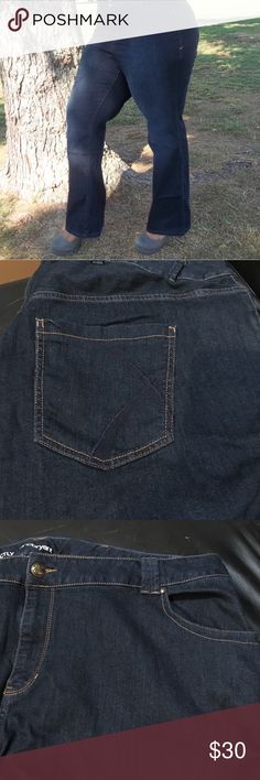 """Limited time SALE!! NWOT Layne Bryant  Boot jeans New without tags. Never worn. Cotton and spandex. Stretchy and comfy. Bootleg cut. Average length. 33"""" inseam. 48"""" waist. Model is wearing the same pant but just a smaller size. Smaller size already sold. layne bryant Jeans Boot Cut"""