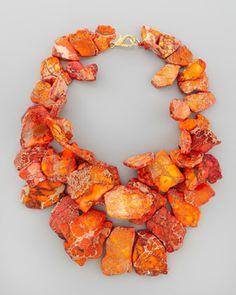 Nest Chunky Orange Jasper Necklace. SO gorgeous!