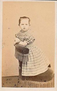 Vintage Civil War Era CDV of A Young Girl in A Plaid Dress Revenue Stamp on Back   eBay