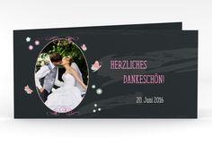 """Danksagungskarte Hochzeit """"Bamberg"""" DIN lang Klappkarte"""