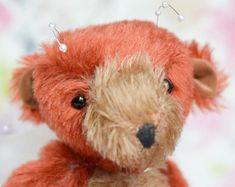 Brown Fairy Bear - traditional artist bear - bruin - handsewn teddy bear - sunbear - mohair teddy bear - Felicity - fairytale