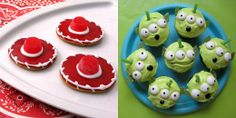 Toy Story 3 Alien Cupcakes and Jessie Hat Cookies