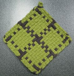 Items similar to Sweet Olive Woven Potholder on Etsy Potholder Loom, Potholder Patterns, Potholders, Sewing Crafts, Sewing Ideas, Loom Weaving, Hot Pads, Project Ideas, Projects