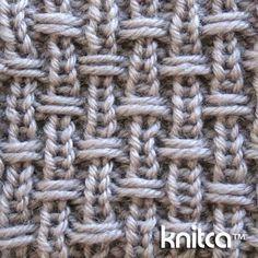 Lado direito do padrão de tricô de ponto - ponto de deslizamento 14: www.knitca.com