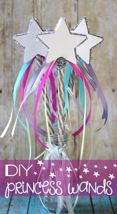 Simple and fun DIY Princess Wands for that little princess in your life. #princessparty #partyfavors #dressupclothes