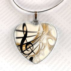 Treble Clef Music Pendant Music Necklace Gclef by PendantLab, $14.95