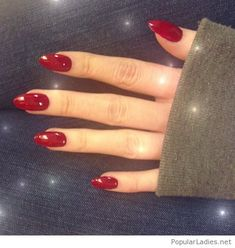 simple-red-gel-nails-for-christmas