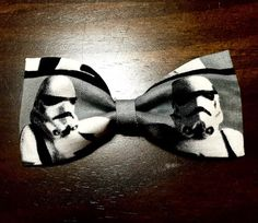Stormtrooper Hair Bow 2x4 by HillsHeels on Etsy