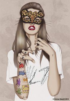 Kitty - Kiss The Devil - Illustration by Emma Zanelli
