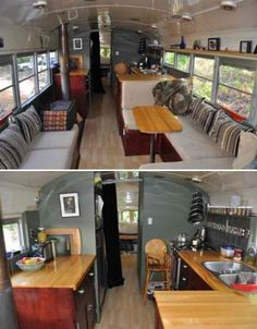 This is a house in a school bus, I want to live here.
