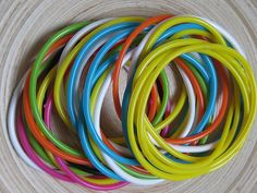 Jelly bracelets - I remember getting a whole bunch for Christmas one year. Jelly Bracelets, Valley Girls, Wearing All Black, I Remember When, Hot Flashes, Ol Days, Child Love, Good Ol, Childhood Memories