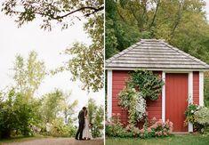 Camrose Hill Farm in Stillwater, MN was a picture-perfect rustic wedding venue.