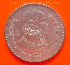 1958 silver Mexican peso