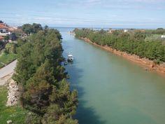 Nea Potidea canal, Halkidiki, Greece