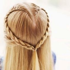 Heart French braid; Totally doing this this weekend for Tab's wedding! Can't wait. Although I am going to jazz it up a bit. . . It's going to be BEAUTIFUL!