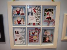 @Krystn Locke: I need your creativity to help me make a scrapbook window like this for the wedding with our engagement pics, or with pics leading up to the engagement!