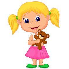 Girl With Teddy Bear - Cute Baby Images