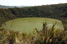 El Dorado, near Bogota, Colombia.  Ancient peoples actually made sacrifices of gold here.