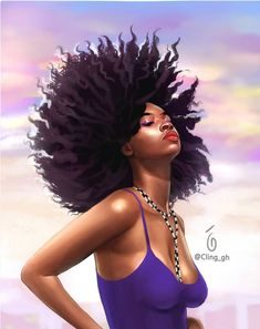 [New] The 10 Best Braid Ideas Today (with Pictures) - blackart Black Love Art, Black Girl Art, Black Is Beautiful, Art Girl, Beautiful Women, Natural Hair Art, Natural Hair Styles, Airbrush, Black Artwork