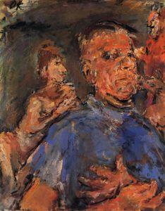 Self Portrait, Self-portrait, Oil on Canvas, - (Oskar Kokoschka)