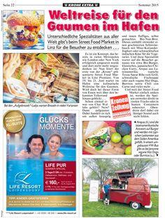 Wir bedanken uns bei der Kronen Zeitung für den tollen Bericht!  Der Linzer Streetfoodmarket findet vom 19 - 21 Juli statt :) Wir freuen uns schon :)   #eatgoodfeelgood #streetfoodmarketlinz #summer #festival Streetfood Market, Linz