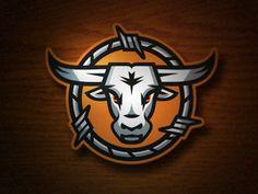 Dribbble - Outlaws 2 by CJ Zilligen Logo Branding, Branding Design, Corporate Branding, Brand Identity, Western Logo, Sports Team Logos, Lacrosse, Skull Logo, Fashion Logo Design