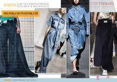 Discover the new Fall Winter 2018-19 DENIM Mega Trend Directions by 5forecaStore Fashion Trends forecasting: MAXIMALISM/MINIMALISM.