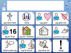 Widgit Go SE - Symbolbruket Learn Swedish, Swedish Language, Autism, Learning, Cards, Studying, Teaching, Maps, Playing Cards