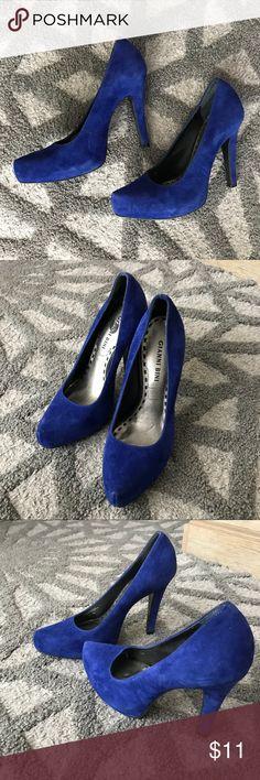 Gianni Bini Blue heels Great condition. Gianni Bini Shoes Heels