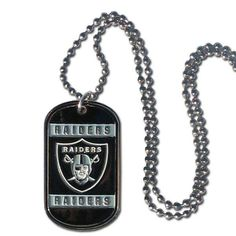 Oakland Raiders Dog Tag Necklace #2176