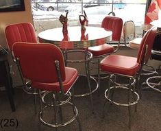 COOL Retro Dinettes | 1950's Style | Canadian Made Chrome Sets Retro Table And Chairs, Retro Kitchen Tables, Retro Dining Rooms, Retro Dining Table, Rustic Kitchen, Country Kitchen, Dining Tables, Dining Set, Retro Furniture