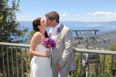 Whisk up the mountain on the gondola to the perfect Lake Tahoe wedding venue.   #laketahoeweddings #destinationweddings #heavenlyresort
