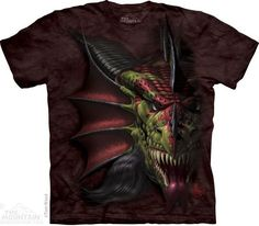 The Mountain LAIR OF SHADOWS Evil Big Dragon Demon Face T-Shirt S-3XL NEW #TheMountain #GraphicTee