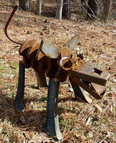 Shaft the Dog yard art garden art. , via Etsy.