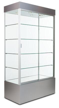 Elegant Lockable Glass Display Cabinet Showcase