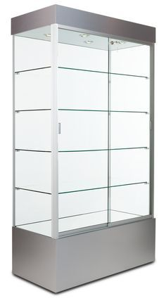48 Quot Glass Display Case W Sliding Doors Base Cabinets