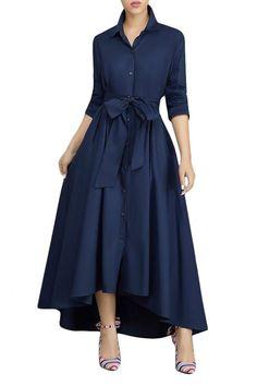 Elegant Long Sleeves Maxi Dress