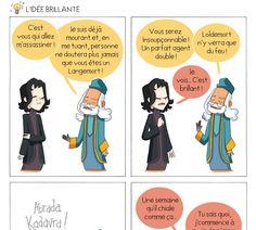 """Le blog BD: """"à Poudlard"""" raconte la vie d'Harry Potter et de ses amis en quelques cases humoristiques. Harry Potter Parody, Modele Pixel Art, Fanfiction, Lol, Illustrations, Hogwarts, Funny Stuff, Amigos, Illustration"""