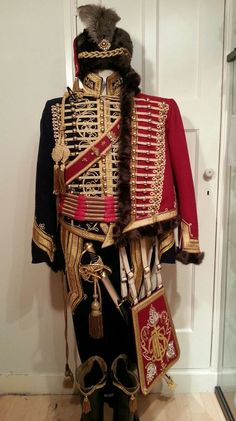 Hussar Captain's uniform reproduction, Regency ca. Historical Costume, Historical Clothing, Military Style Jackets, Military Jacket, Army Uniform, Military Uniforms, Military Fashion, Mens Fashion, Military Costumes