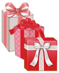 Red White Gift Boxes PNG Clipart